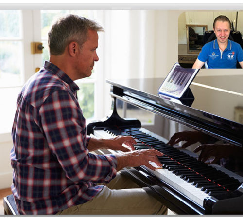 Skype piano lesson