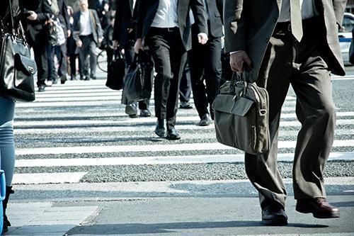 People commuting
