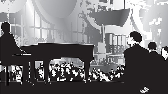 Become popular performing the piano