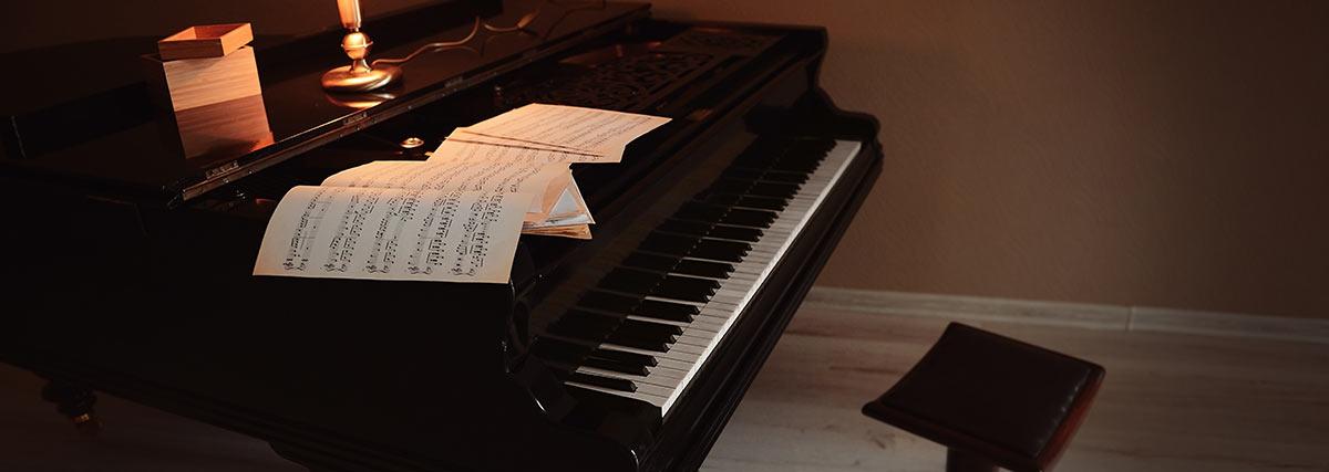 grand piano at home